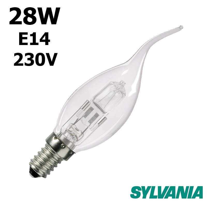 Ampoule flamme coup de vent 28W E14 230V