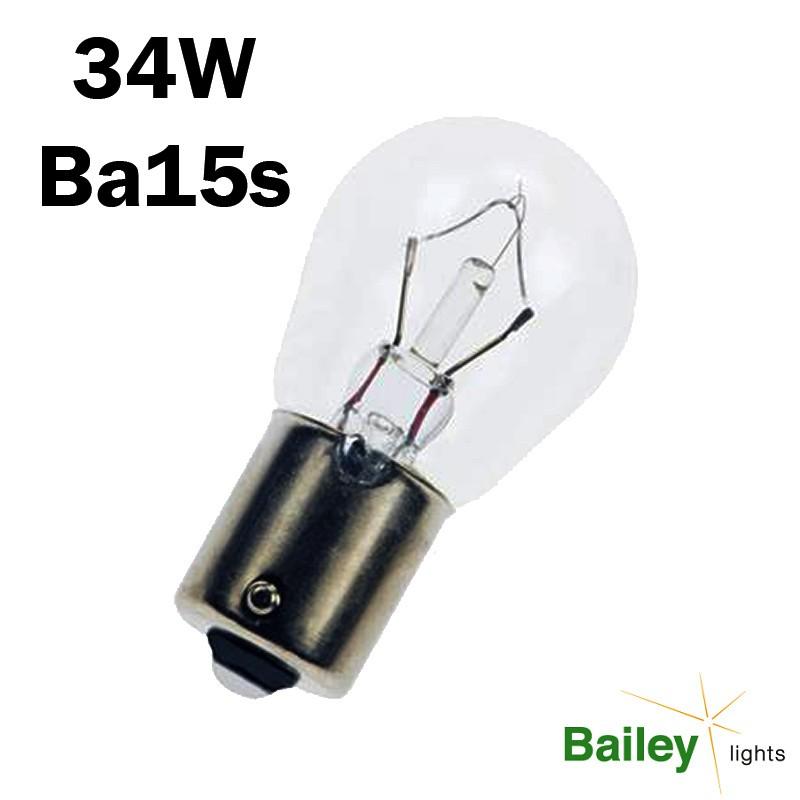 Ampoule sphérique spéciale porte de garage 34W - 32.5V - BA15s