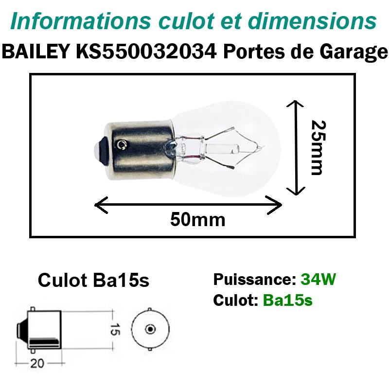 Ampoule 32.5V - 34W - BA15s
