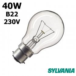 Ampoule standard 40W B22 230V