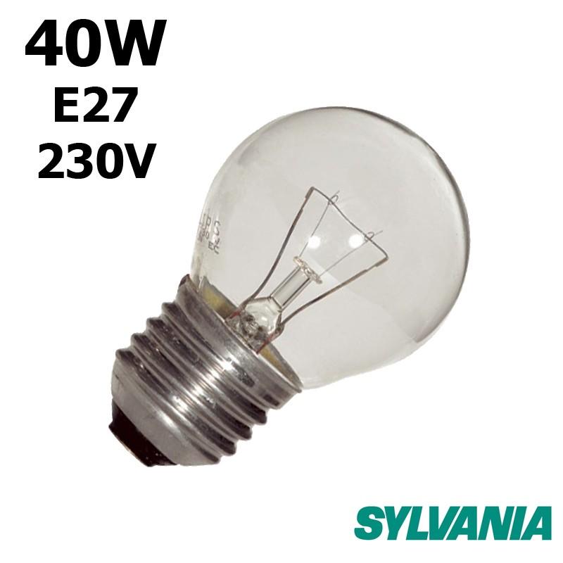 Ampoule sphérique 40W E27 230V