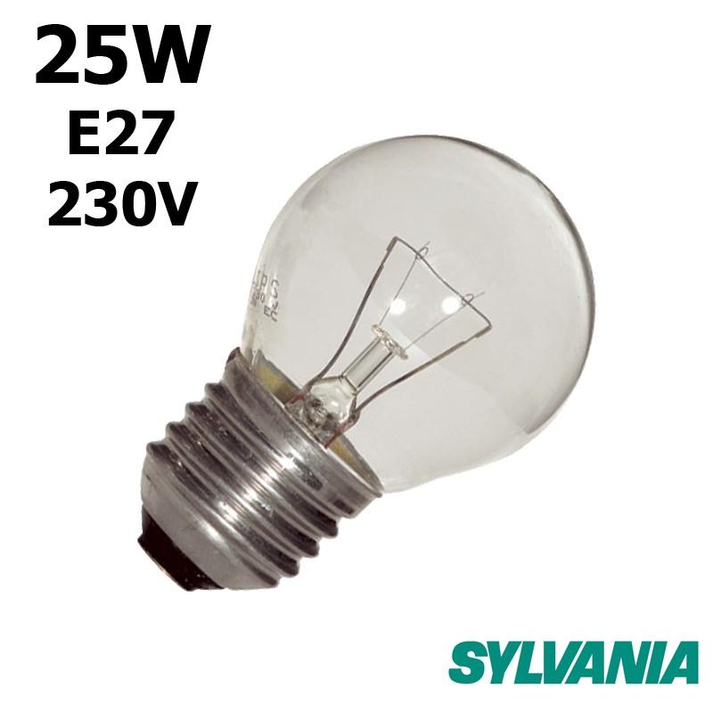 668d9dfbb2672 Ampoule sphérique 25W E27 230V - Lampe claire à incandescence