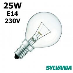 Ampoule sphérique 25W E14 230V