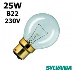 Ampoule sphérique 25W B22 230V