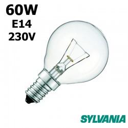 Ampoule sphérique 60W E14 230V