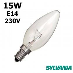 Ampoule flamme 15W E14 230V