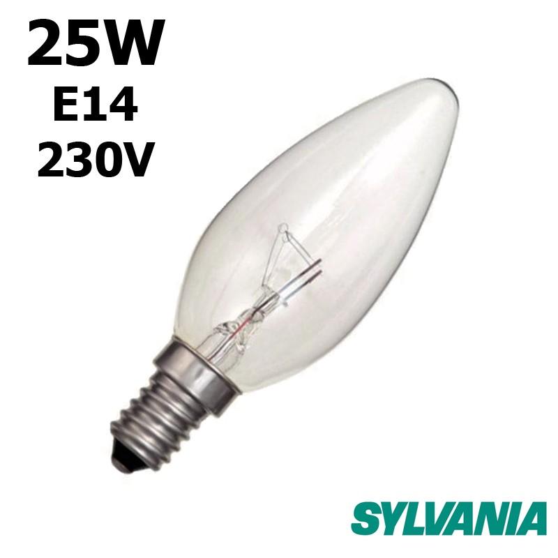 Ampoule flamme 25W E14 230V