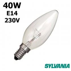 Ampoule flamme 40W E14 230V
