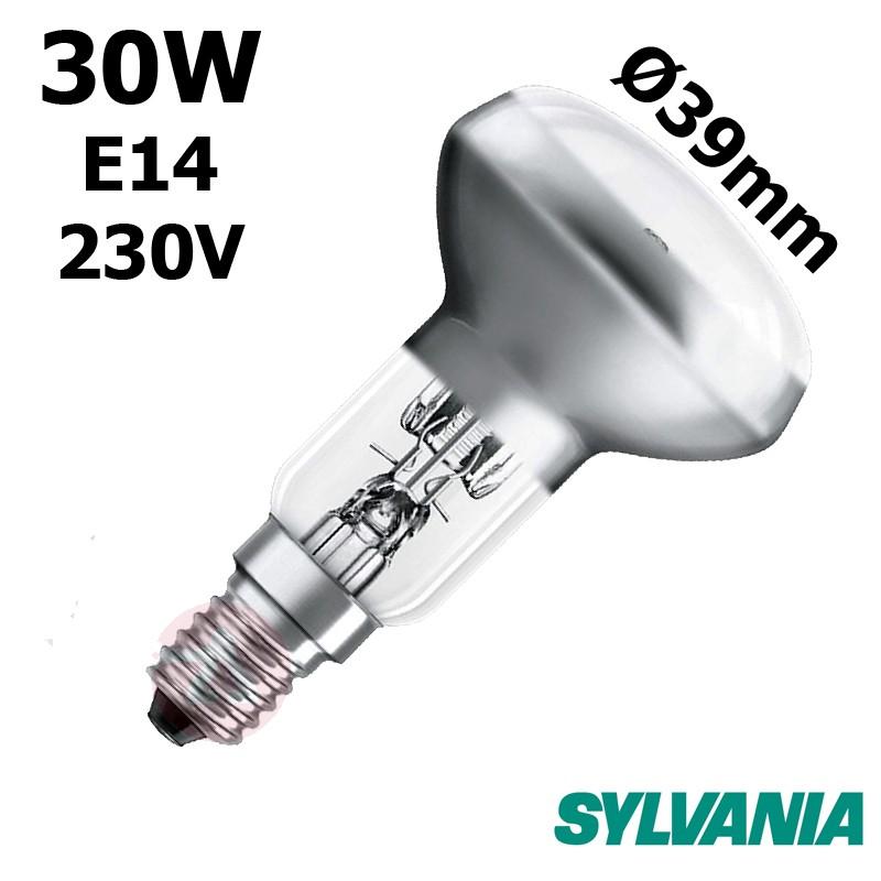 Ampoule réflecteur Ø39mm 30W E14 230V