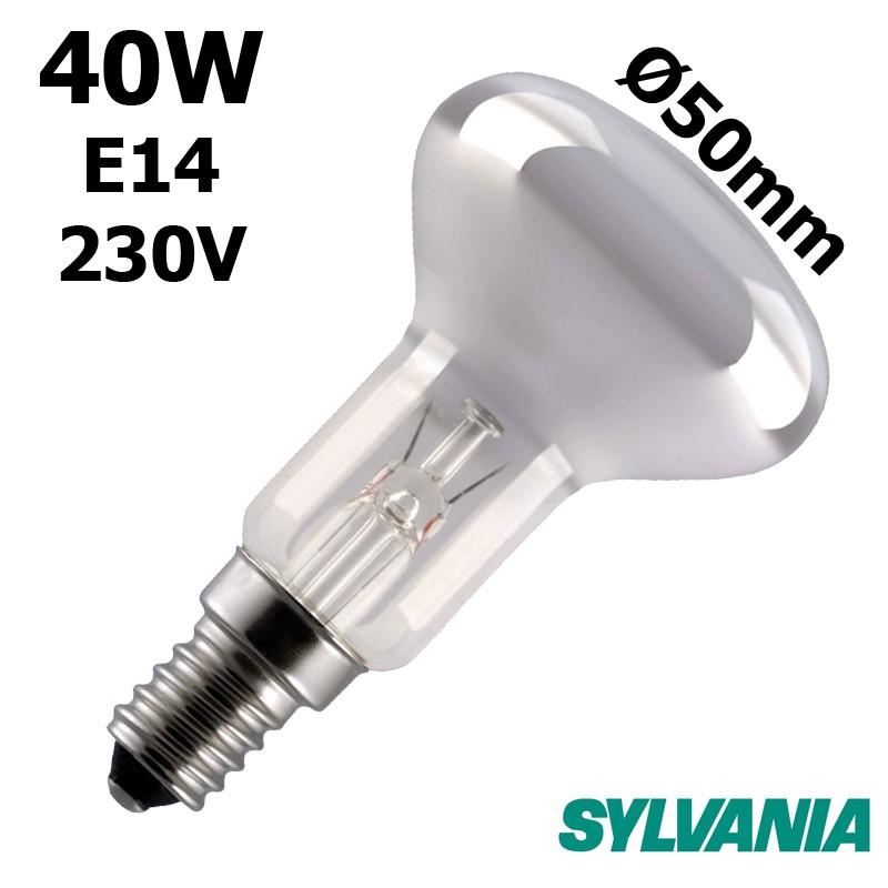 Ampoule réflecteur Ø50mm 40W E14 230V