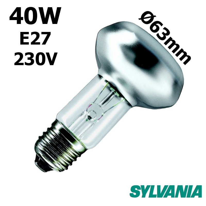Ampoule réflecteur 63mm 40W E27 230V