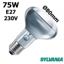 Ampoule réflecteur 80mm 75W E27 230V
