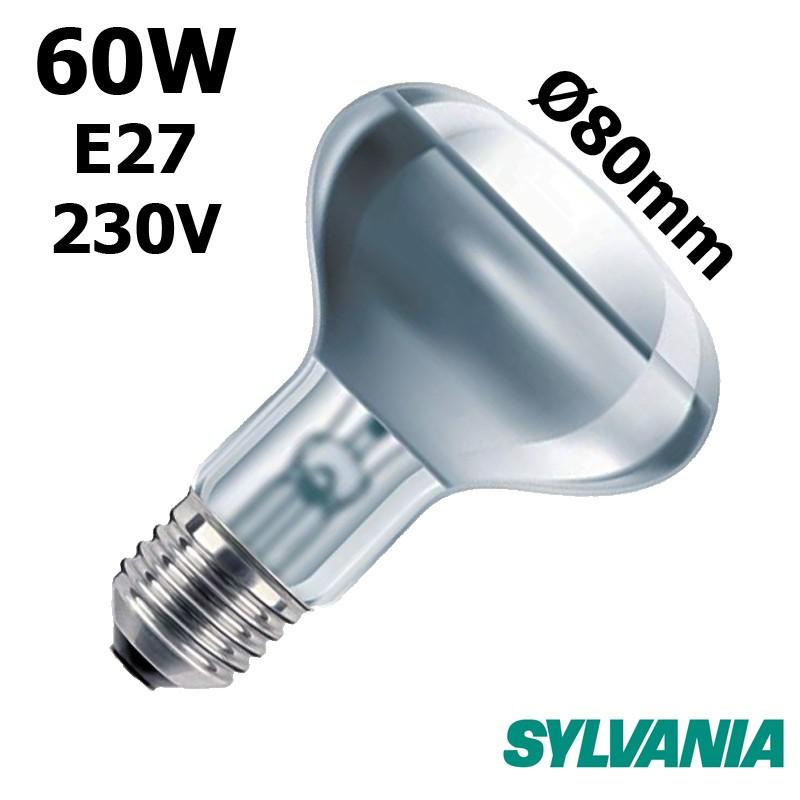 Ampoule réflecteur 80mm 60W E27 230V