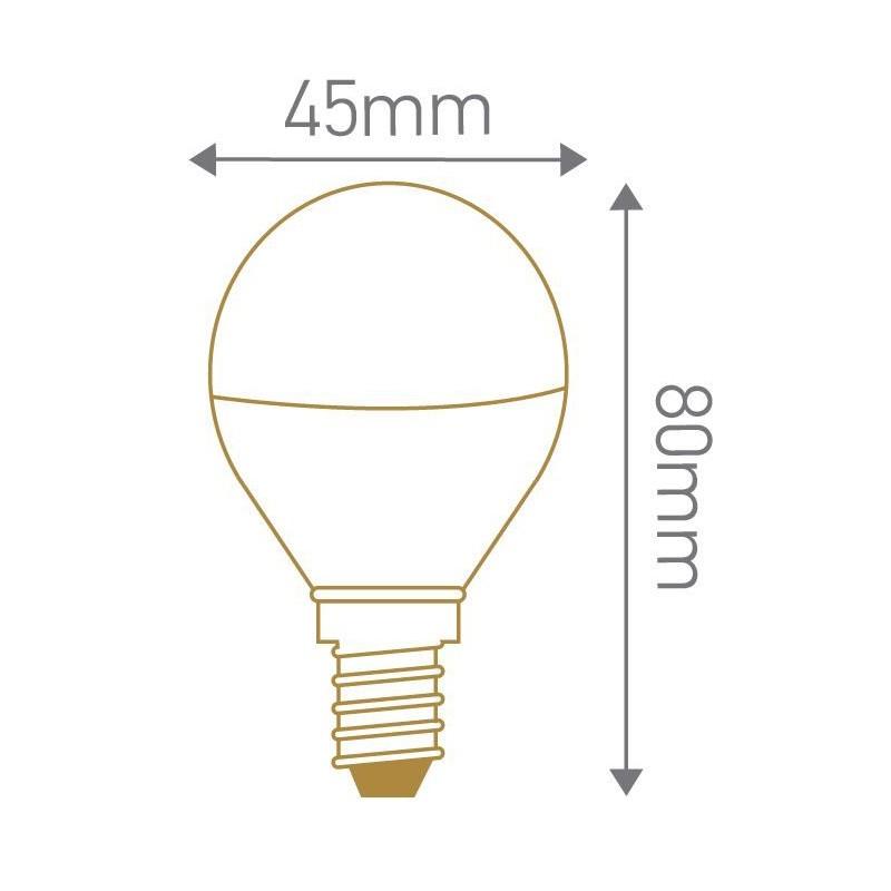 Lampe LED sphérique dépoli E14 GIRARD SUDRON 160105