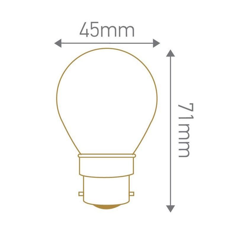 Lampe LED sphérique dépoli B22 GIRARD SUDRON 160194