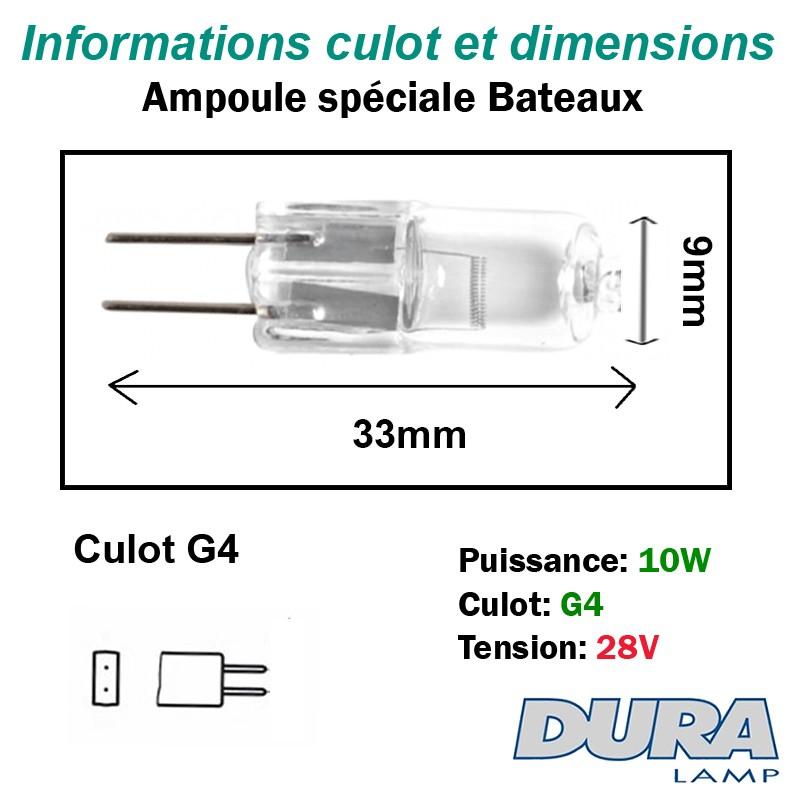 Lampe 10W 28W G4