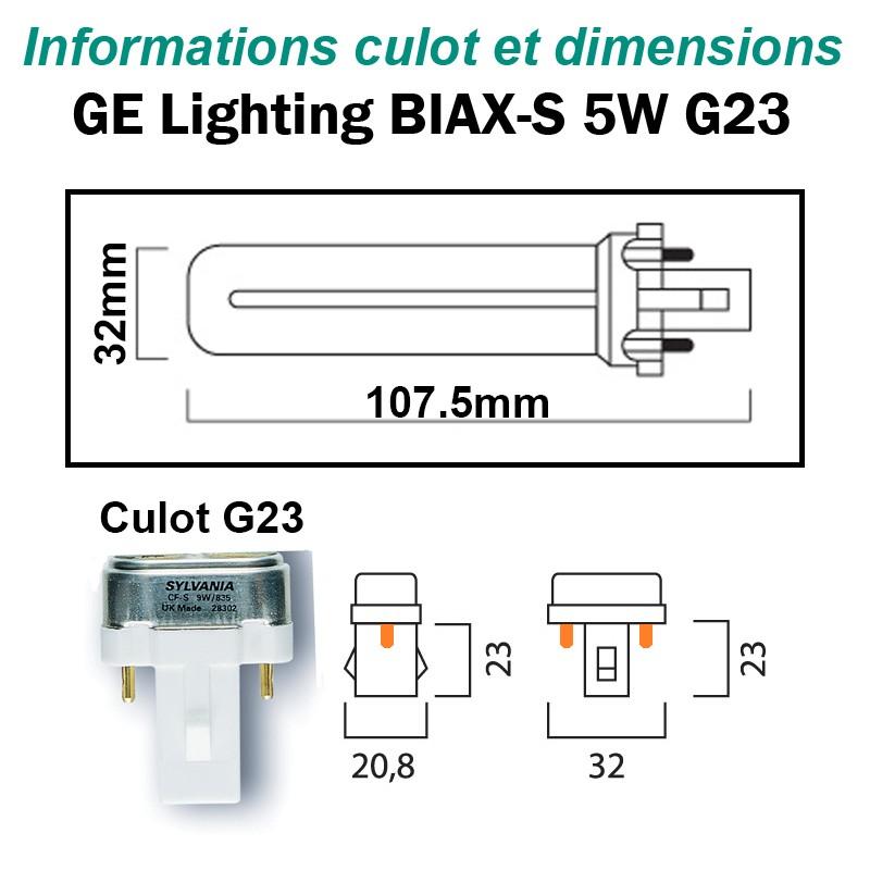 GE LIGHTING BIAX-S 5W G23