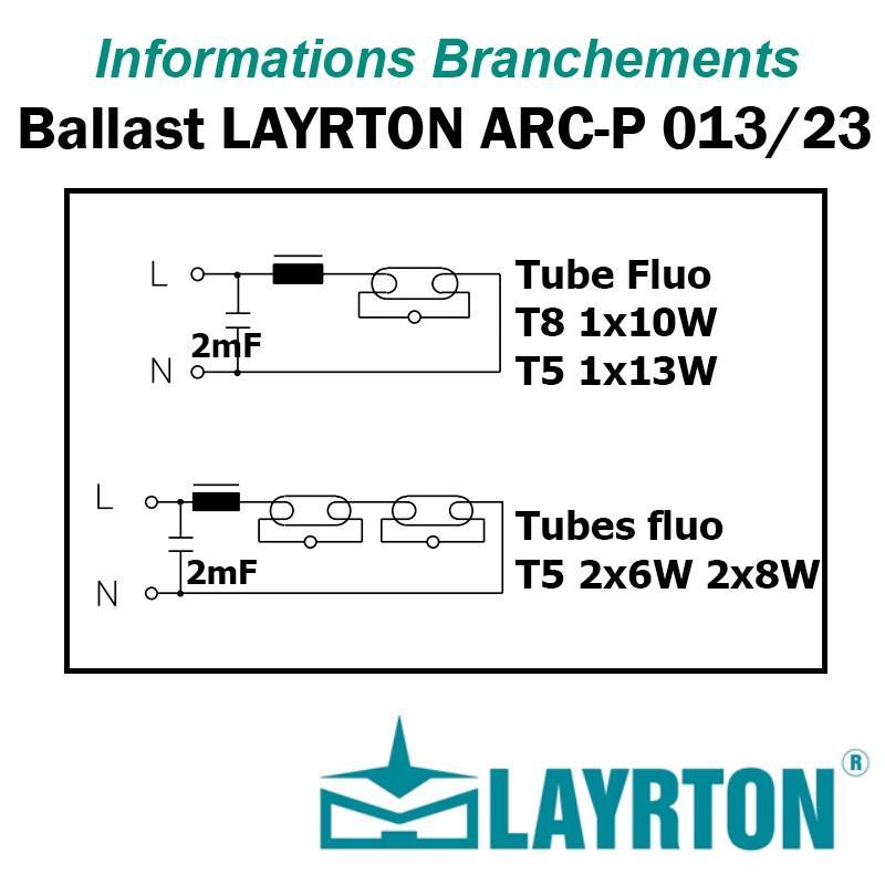 BALLAST FERRO-MAGNETIQUE LAYRTON LARCP13