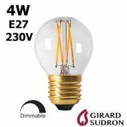 Ampoule LED sphérique claire E27 GIRARD SUDRON 28648