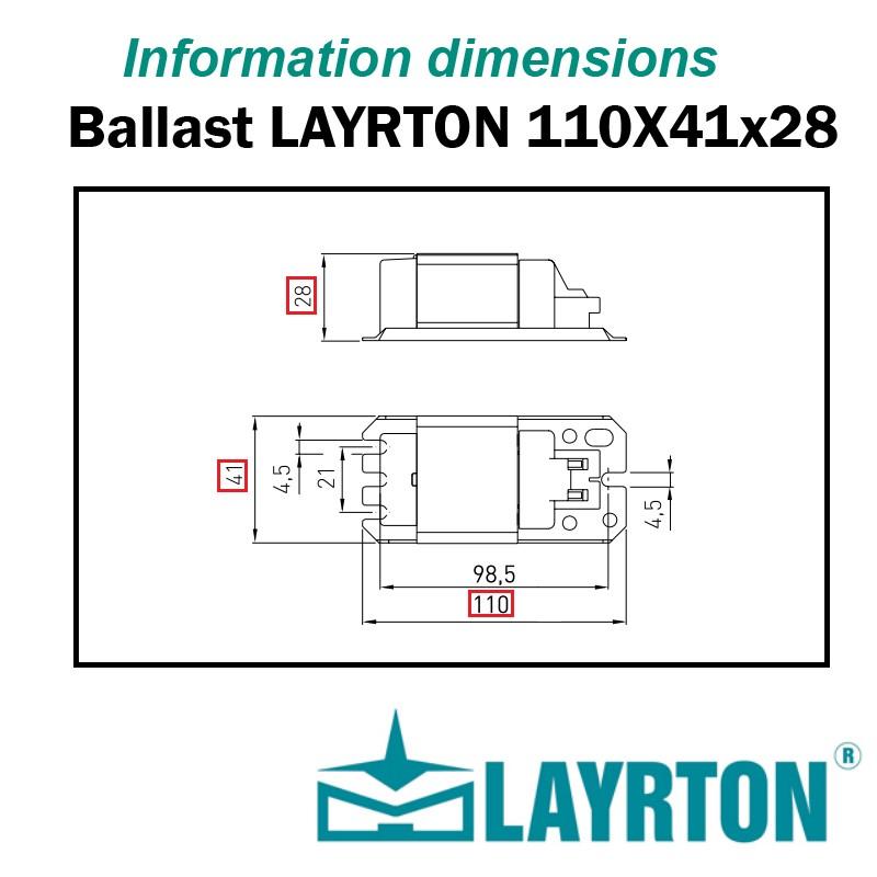 BALLAST FERRO-MAGNETIQUE FLUOCOMPACTE 26W G24D3 GX24D3