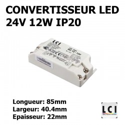 ALIMENTATION LED 230V-24Vdc 12W LCI 1711007