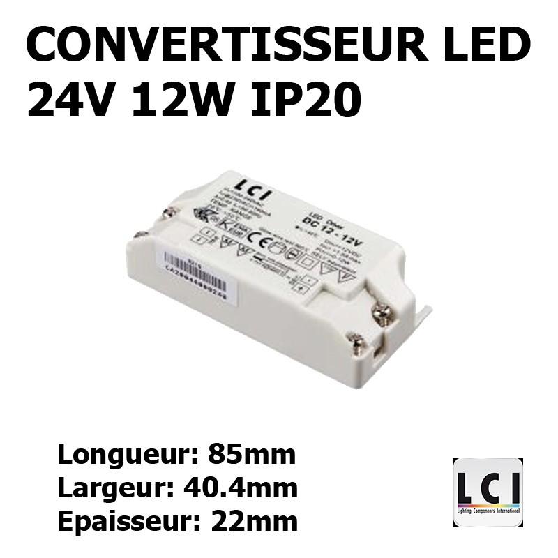 ALIMENTATION LED 230V-24Vdc 12W LCI 1711007