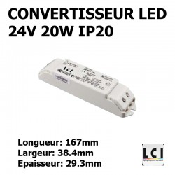 ALIMENTATION LED 230V-24Vdc 20W LCI 1711008