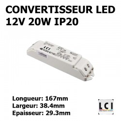 ALIMENTATION LED 230V-12Vdc 20W LCI 1711002