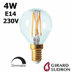Ampoule LED sphérique claire E14 GIRARD SUDRON 28646