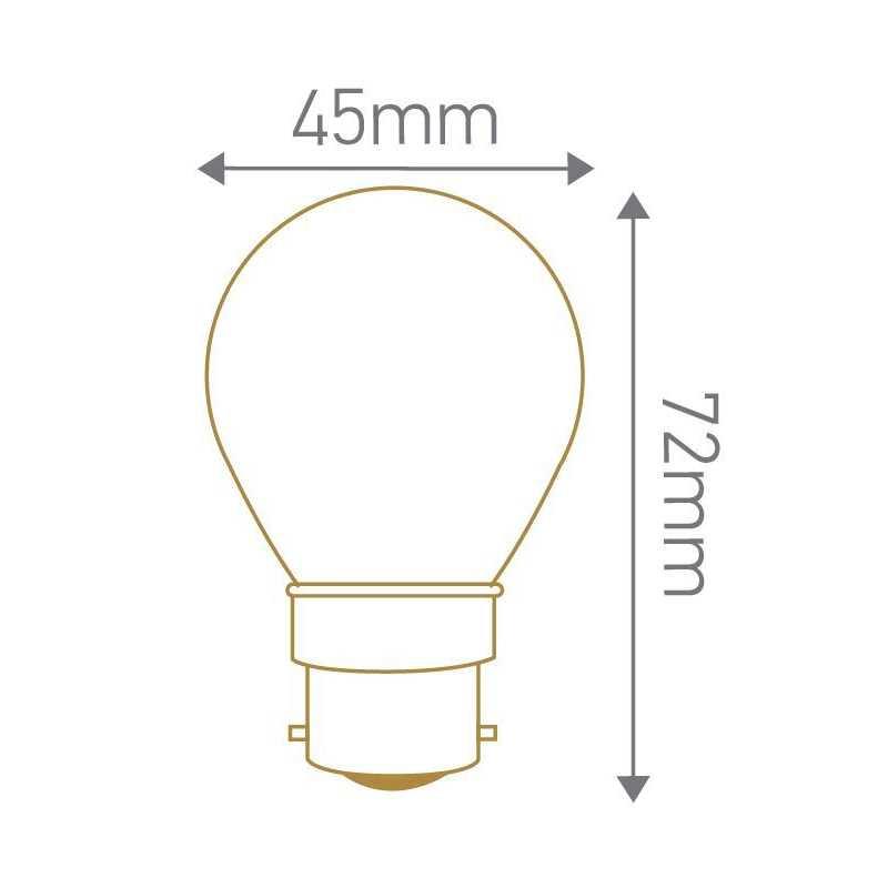 Lampe LED sphérique B22 GIRARD SUDRON