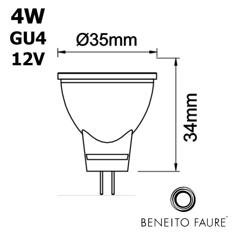 MR11 LED GU4 12V 4W