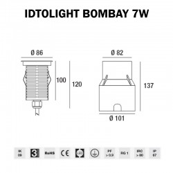 ENCASTRE DE SOL LED - IDTOLIGHT BOMBAY