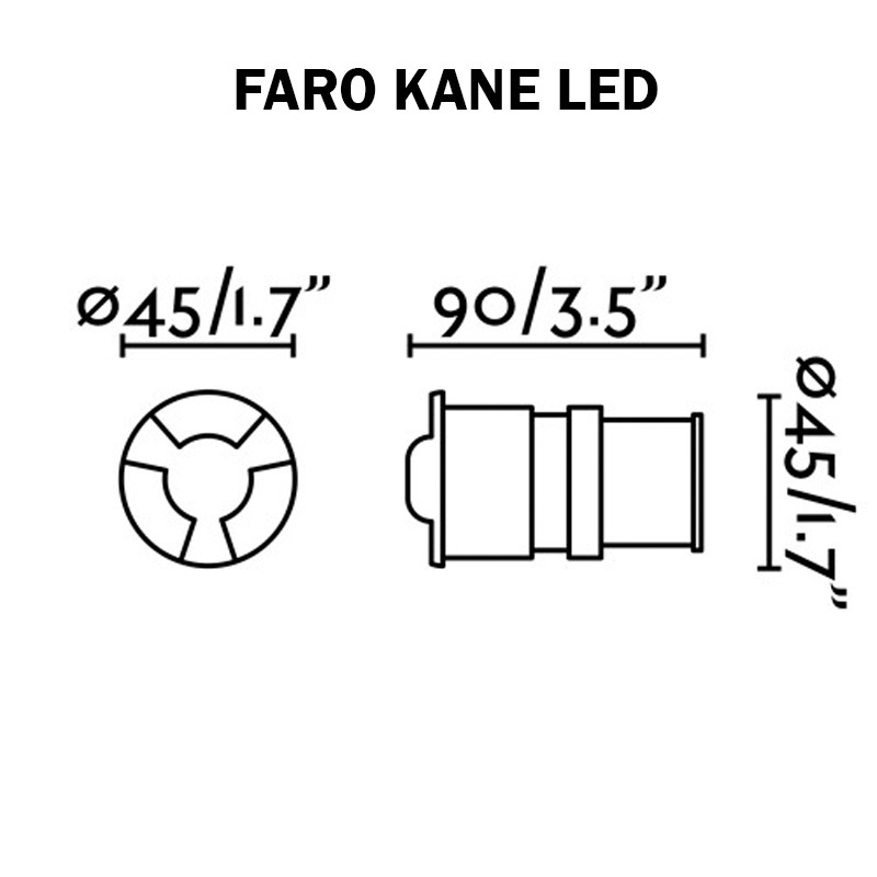 Encatré de sol LED - FARO KANE-2
