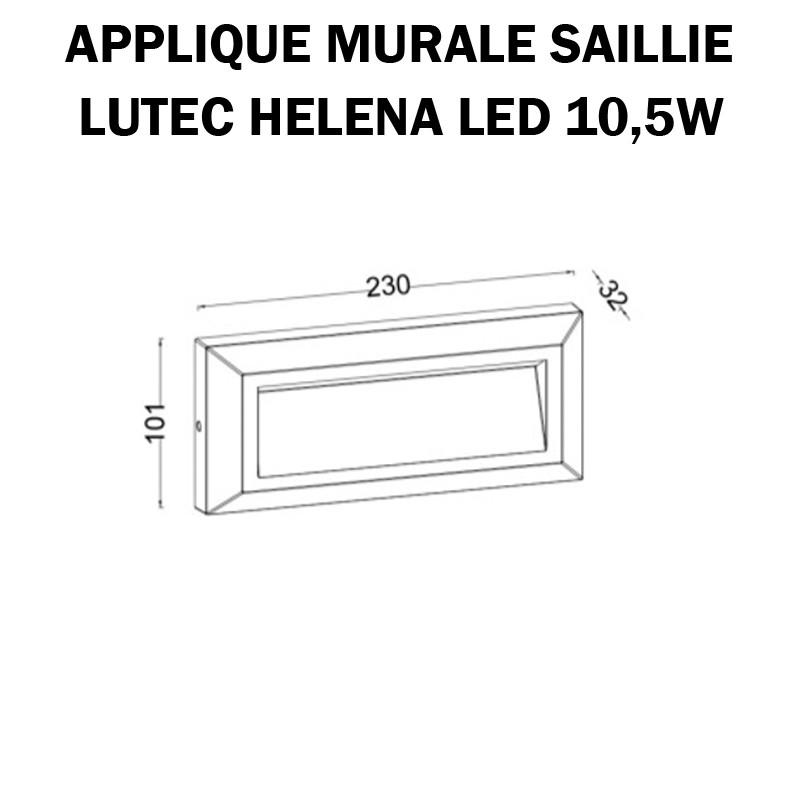 Luminaire mural extérieur -  LUTEC HELENA