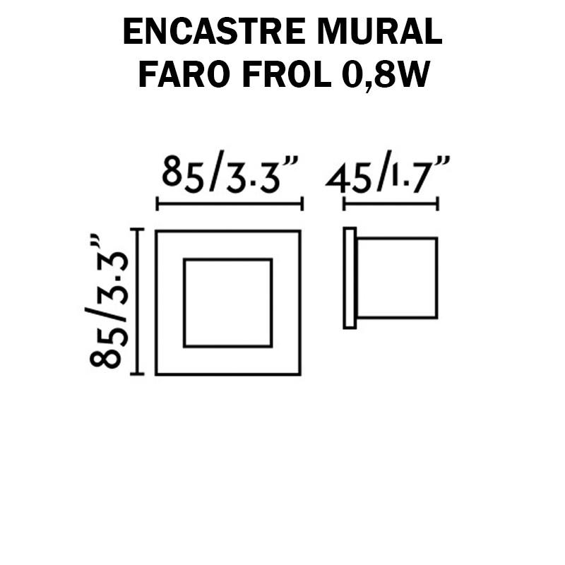 LUMINAIRE mural extérieur -  FARO FROL