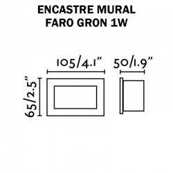 LUMINAIRE mural extérieur - FARO GRON