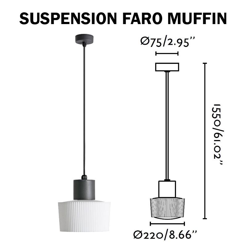 Luminaire suspendu FARO MUFFIN