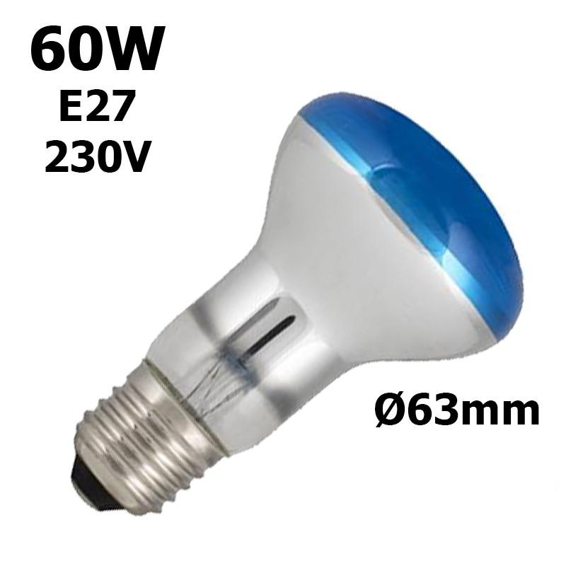Ampoule bleue 60W E27 230V
