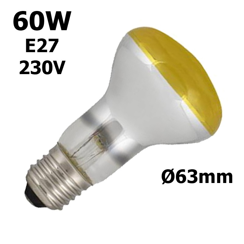 Ampoule jaune 60W E27 230V