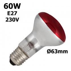 Ampoule rouge 60W E27 230V