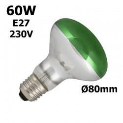 lampe verte 60W E27 230V