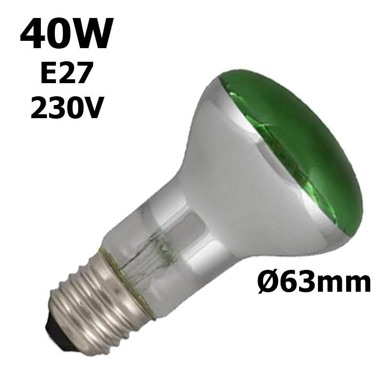 Ampoule verte 40W E27 230V