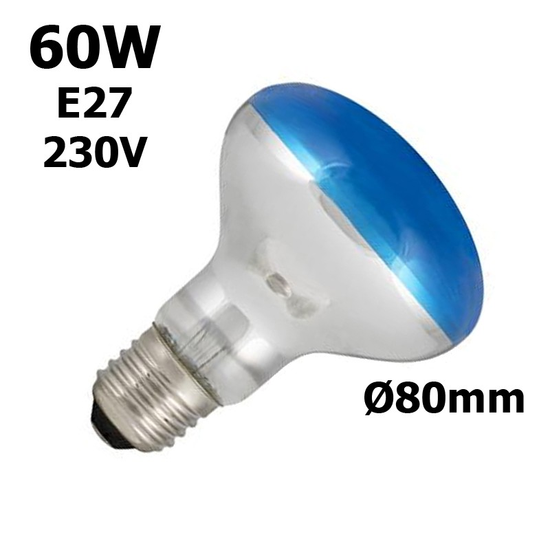 lampe bleue 60W E27 230V