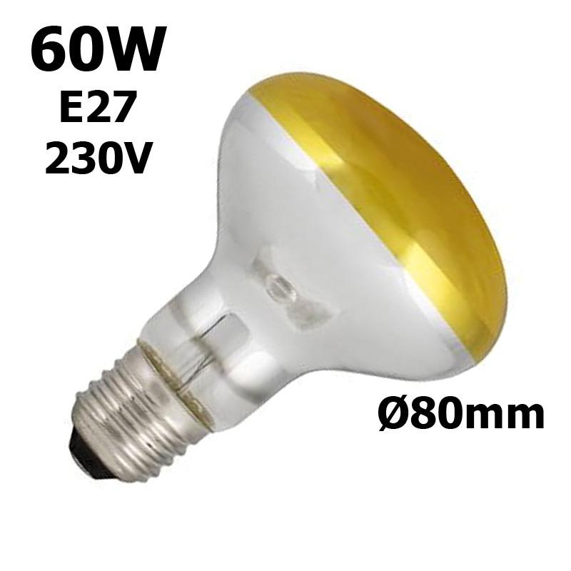 lampe jaune 60W E27 230V