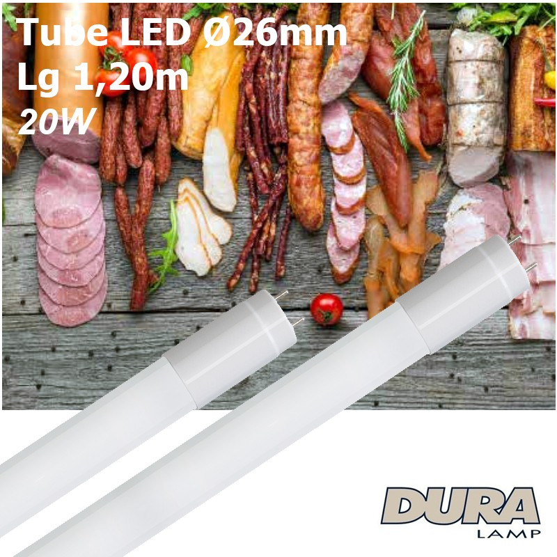 Tube LED boucherie 1,20m culot G13