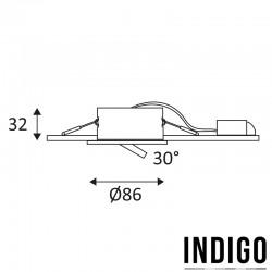 Dimensions spot LED INDIGO BORA
