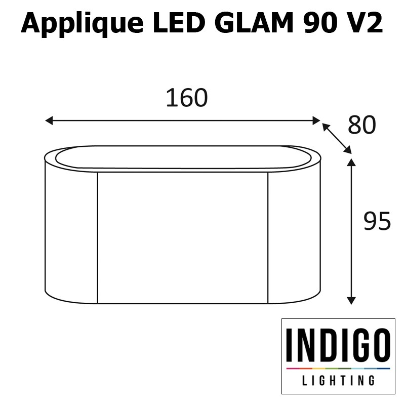 Applique INDIGO GLAM 90 V2