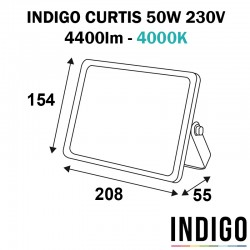 Projecteur gris anthracite INDIGO CURTIS