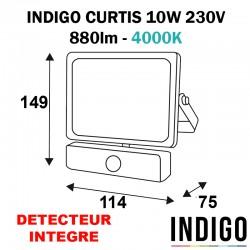 Projecteur avec détecteur extérieur gris anthracite