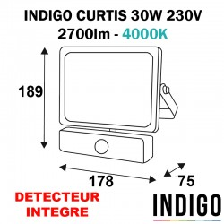 Projecteur INDIGO CURTIS gris anthracite